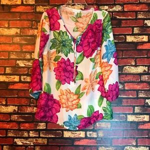 Large Charter Club Floral Blouse